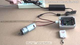 Comment Contrôler Rotation de Moteur et Lampe Avec CC 12V Télécommande