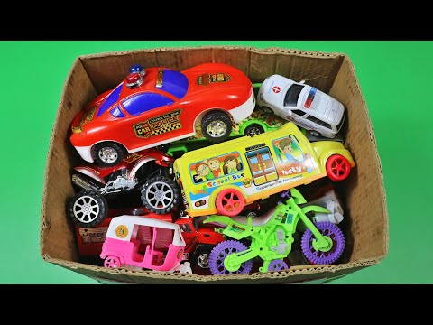 Video About Various Vehicles from the Box | Police cars, School Bus, Auto Rickshaw and many more