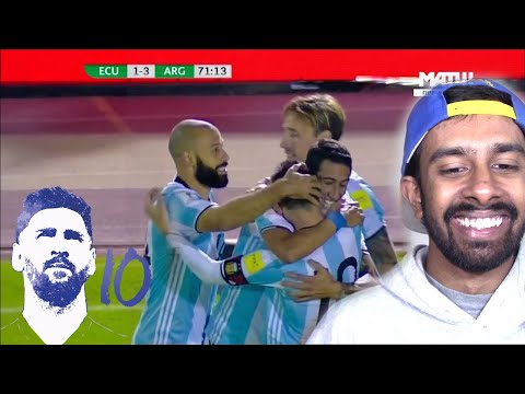 The Day Lionel Messi Saved Argentina From Disaster ● Lionel Messi Masterclass Vs Ecuador (REACTION)