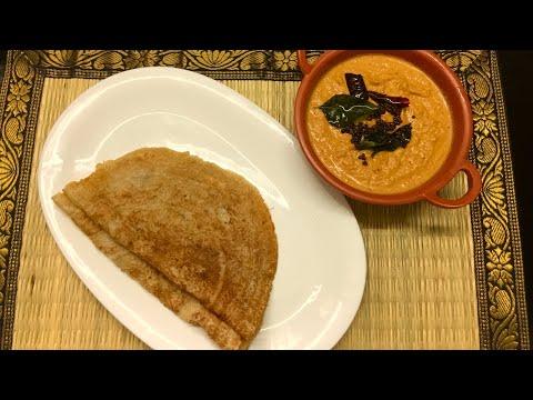 வெங்காய சட்னி, கோதுமை தோசை இப்படி செஞ்சு அசத்துங்க/ Instant Crispy Wheat Dosai, Onion Chutney