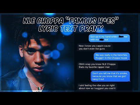 """NLE CHOPPA """"FAMOUS HOES"""" LYRIC TEXT PRANK ON COUSIN"""