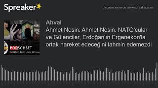 Ahmet Nesin: Ahmet Nesin: NATO'cular ve Gülenciler, Erdoğan'ın Ergenekon'la ortak hareket edeceğini