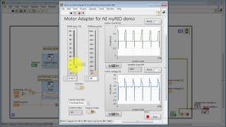 "NI myRIO: ""Motor Adapter for NI myRIO demo"" LabVIEW project"