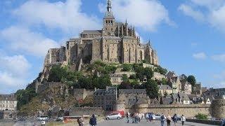 Франция  Нормандия  Аббатство Мон Сен Мишель(Замок Мон-Сен-Мишель (Mont Saint Michel, гора Св. Михаила) представляет собой скалистый остров в устье реки Кюснон..., 2014-04-17T22:18:40.000Z)