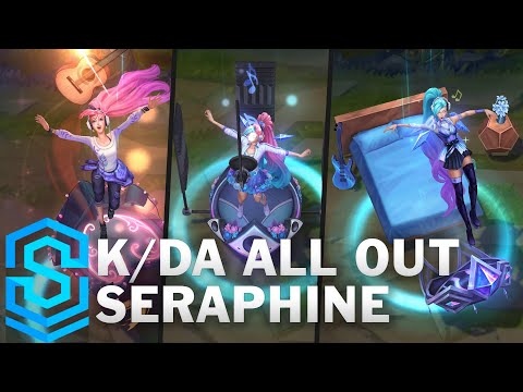 K/DA ALL OUT Seraphine Skin Spotlight - Pre-Release - League of Legends