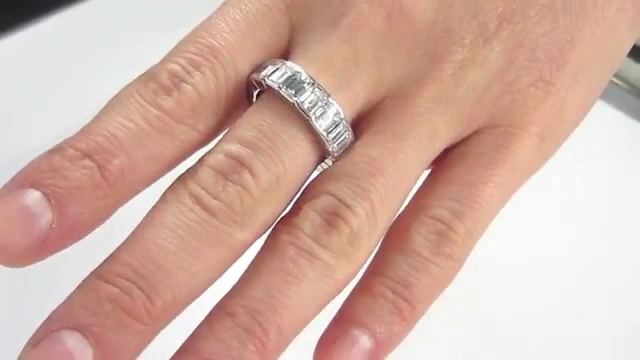 on rings promise pinterest cut best eternity images engagement solitaire carat infinity band and radiant emerald bands