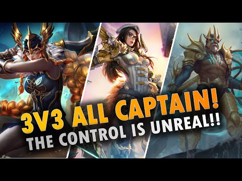 ALL CAPTAIN 3V3 W/ CP LANCE😜!! Vainglory 3v3 - Lance |CP| Jungle Gameplay