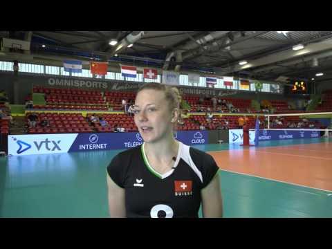 Day 3: Post-match interview with Switzerland's Maya Storck (swiss german)