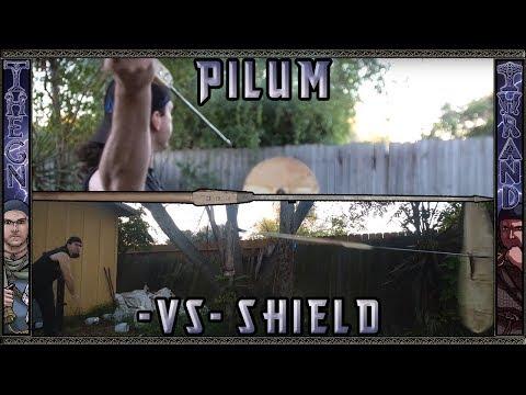 Pilum First Throwing Test on Shield!