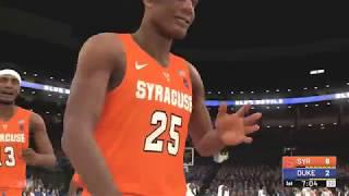NBA 2K19 College Hoops 2K19 Gamplay Syracuse Orange vs Duke Blue Devils