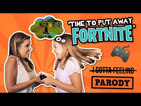 "Time to put away FORTNITE?? Dad gets addicted // ""I Gotta Feeling"" Black Eyed Peas Parody"