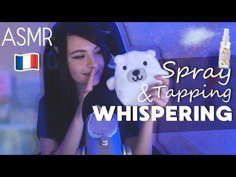 ASMR (reupload) ⚪️UPDATE whispering, tapping, spray