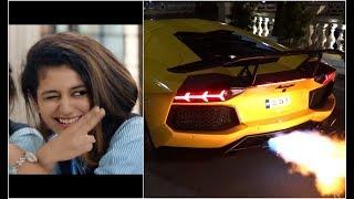 Priya Prakash vs Lamborghini Aventador.. LOL