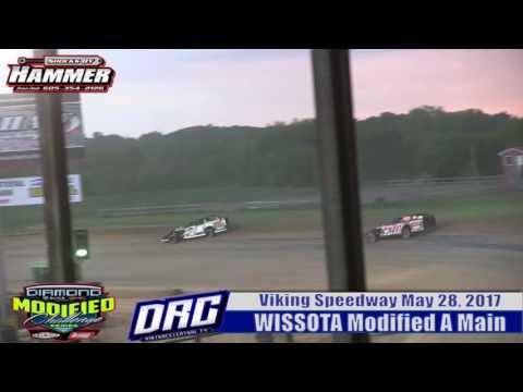 Viking Speedway 5/28/17 WISSOTA Modified Highlight