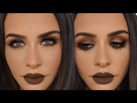 BROWN & COPPER Glitter Smokey Eye | Carli Bybel