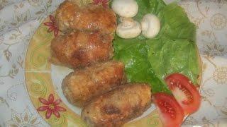 Крученики с грибами  Украинская кухня