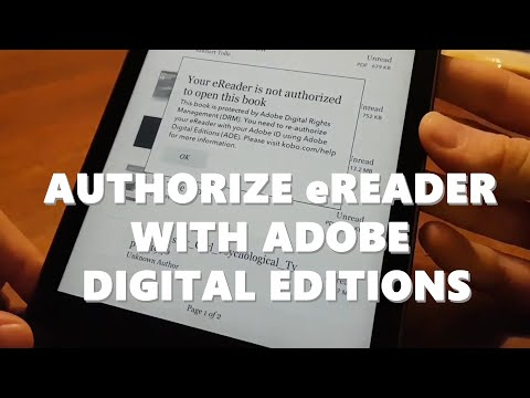 How To Authorize EReader With Adobe Digital Editions - Kobo Ebook Reader With Epub Files