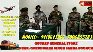 6 sec. Commander Romio Force held Meeting of civi society, youth and Budha Amarnath temple comeettee