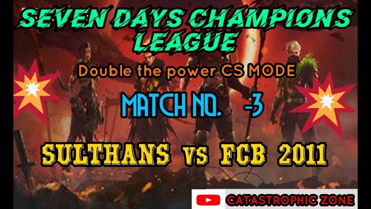 Seven days champions league   Third Match   SLT vs FCB 2011   Road to 3k❤️   freefire live