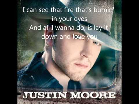 Justin Moore Like theres no tomorrow tonight Lyrics