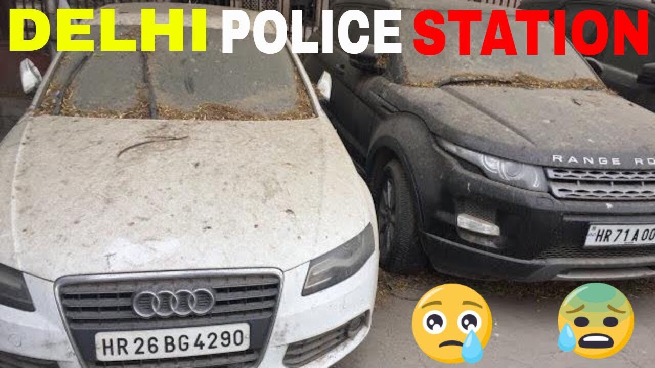 Abandoned Most Expensive Luxury Cars In Delhi Mandir Marg Police