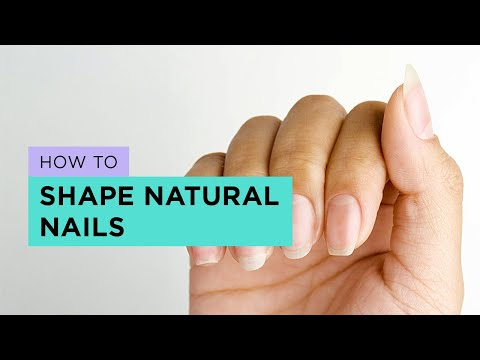 How to Shape Square, Squoval, Oval, Round and Almond Nails (natural)