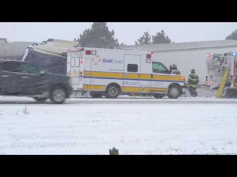 Interstate 35 Major Pile Up and closed at Albert Lea, MN 1/18/2019