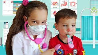Baby Sick and Coughing Doctor pretend play Nursery Rhymes & Kids  Play