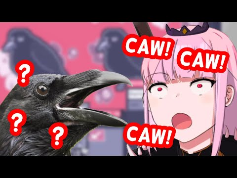 Calli Surprises Chat With a Flawless Crow Impression (#CalliForHoloBirds)   HololiveEN Clips