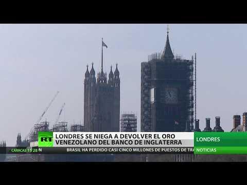 RT en Español: Londres se niega a devolver el oro venezolano depositado en el Banco de Inglaterra
