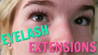 GETTING EYELASH EXTENSIONS! | SISTER SUMMER