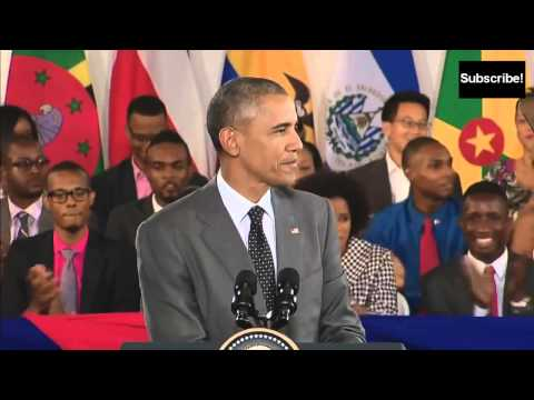 Barack Obama in Jamaica talking Jamaican