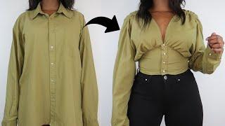 DIY Fitted Waist Top | Men's Shirt Refashion