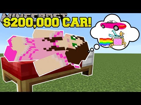 Minecraft: BUYING A $200,000 CAR!!! - The Wishing Cake - Custom Map