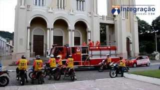 Chegada do caminhão dos Bombeiros Voluntários de Faxinal do Soturno