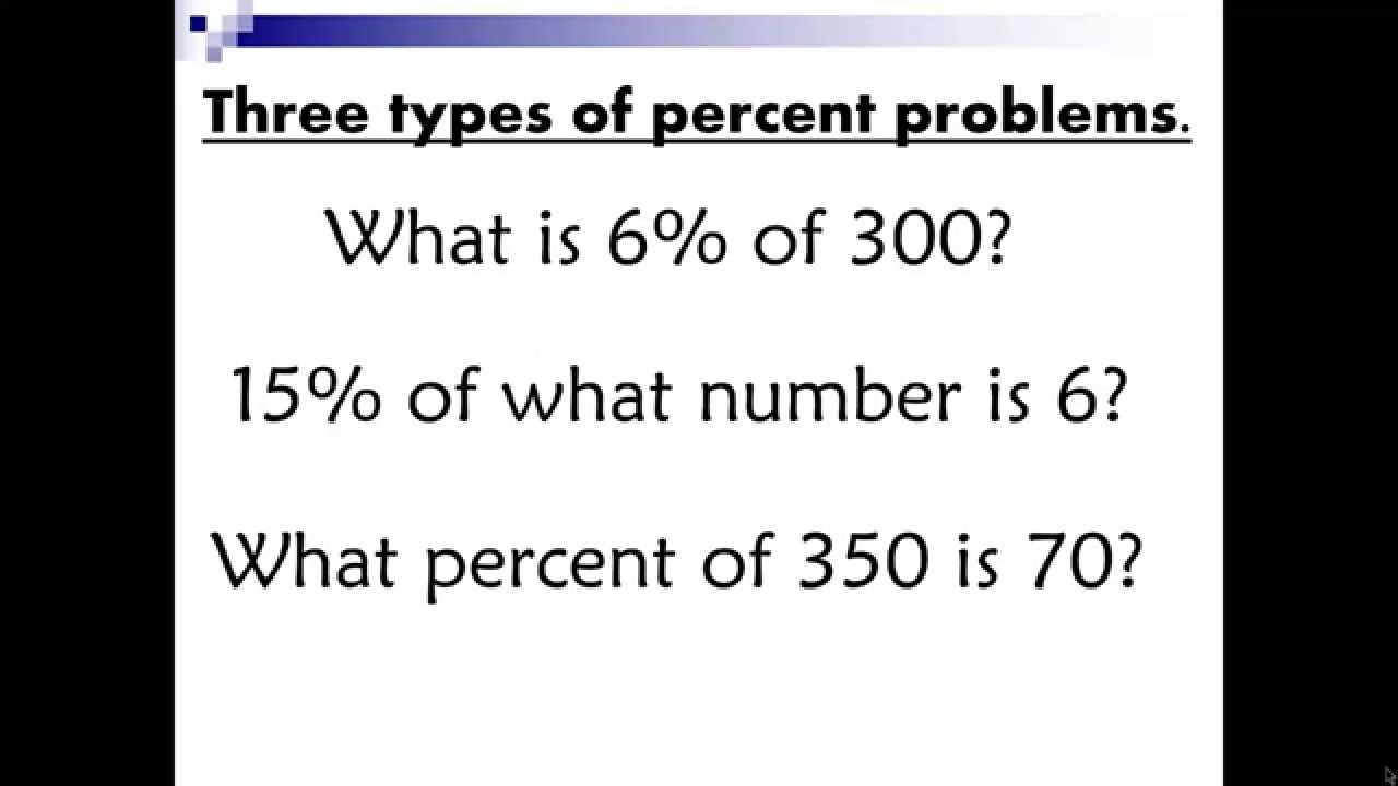 Percent Word Problems Free Worksheet with Video YouTube – Solving Percent Problems Worksheet