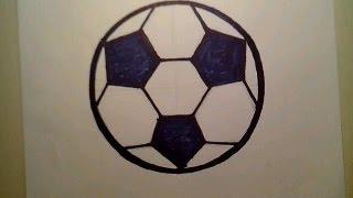 How To Draw A Soccer Ball como dibujar una pelota de futbol player goal fifa football