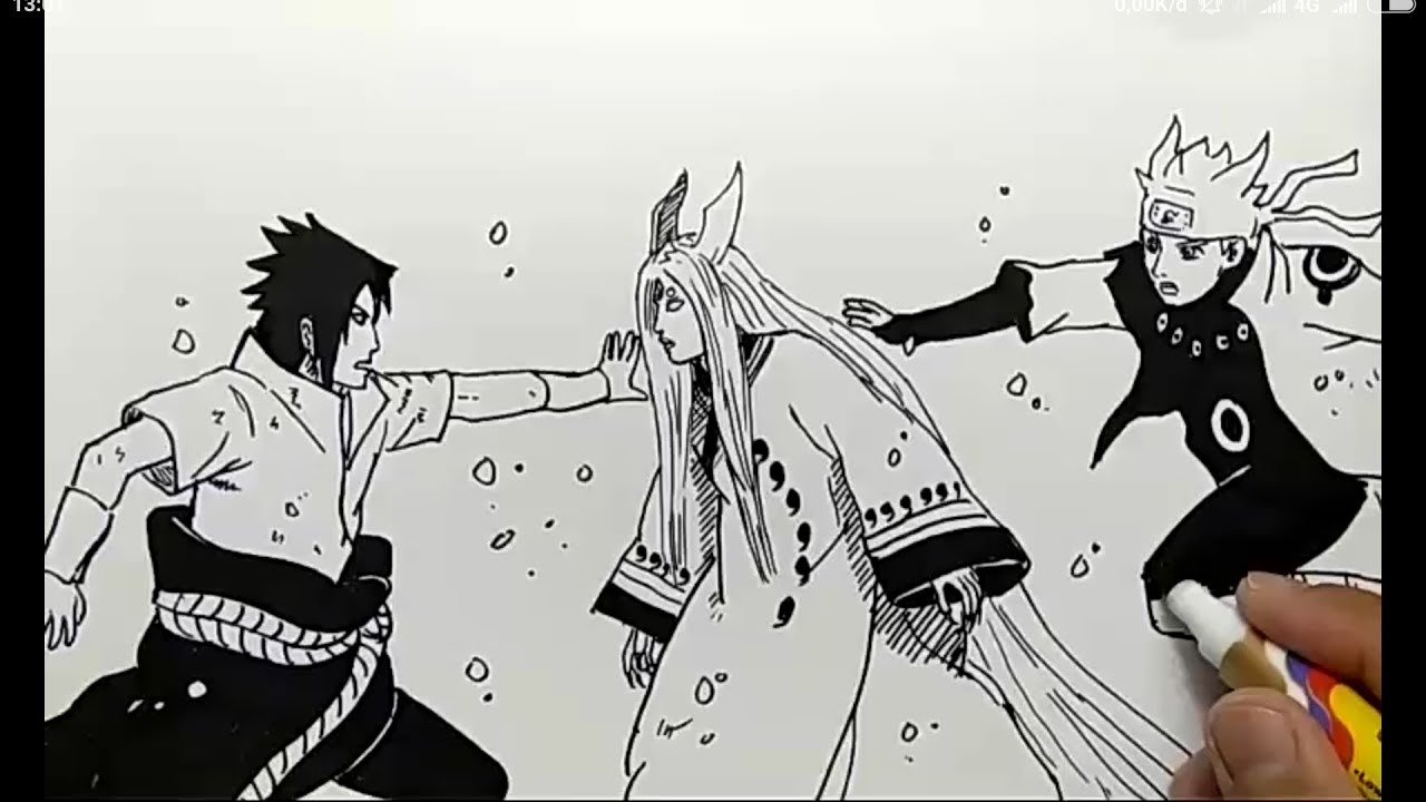 Galeri Gambar Sketsa Sasuke Mudah Terbaru