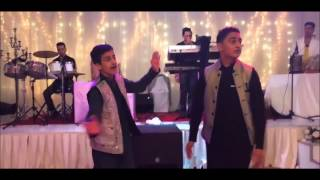 Afghan boys Attan at wedding Hall.