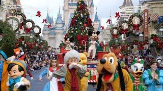 Mickey's Once Upon A Christmastime Parade 4K FULL SHOW Daytime Magic Kingdom Walt Disney World 2019