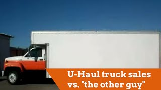 u haul truck sales vs the other guy