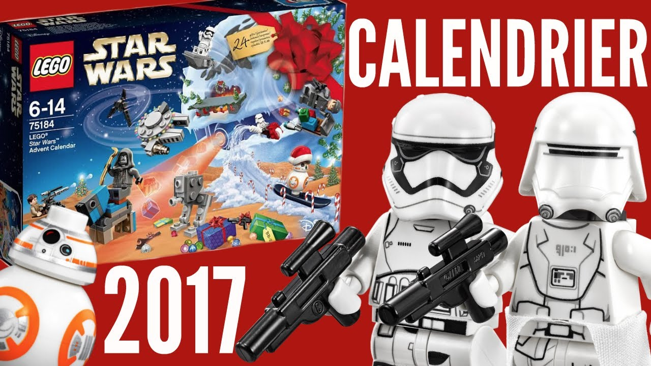 lego star wars calendrier de l 39 avent 2017 youtube