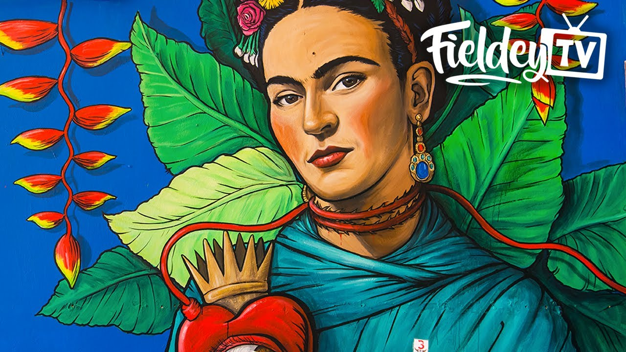The best street art mural I've painted - Frida Kahlo and Diego Rivera themed