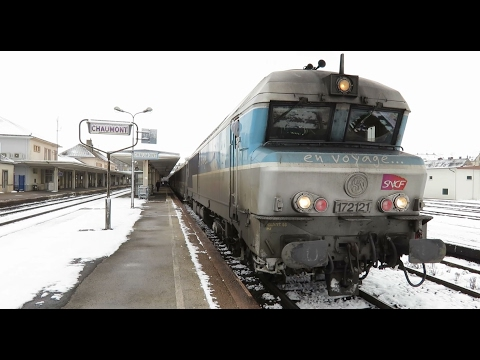 En cabine du CC 72121 de Chaumont à Troyes le 15 janvier 2017