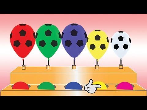 Learn Colors With Soccer Ball Balloons For Children || Nursery Rhymes || Colors For Kids thumbnail