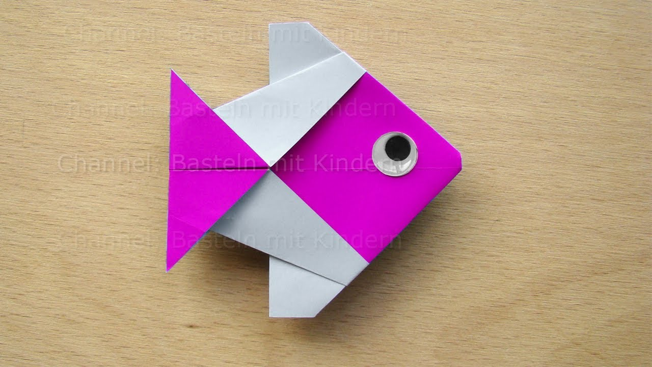 Origami Fisch Falten 🐟 Einfachen Fisch Basteln Mit Papier