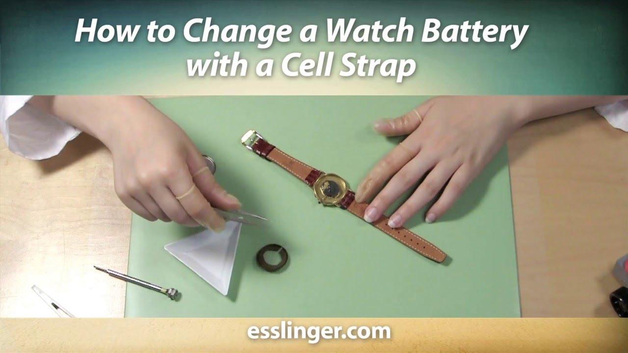 la mejor moda venta de descuento tienda oficial How to Change a Watch Battery with a Cell Strap