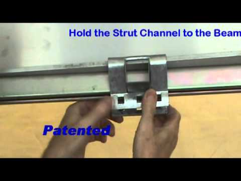 Clamping Strut Channels lengthwise on I-Beams