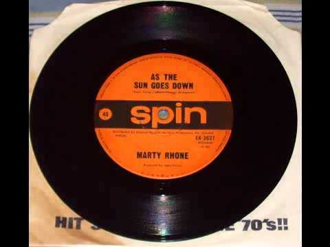 Marty Rhone - As The Sun Goes Down (B Side)