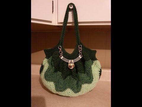 CROCHET How to #Crochet  A (Chevron Stitch) Handbag Purse Tutorial #88 LEARN CROCHET